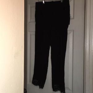 🎀NWT A.Byer super cat black capris dress pants